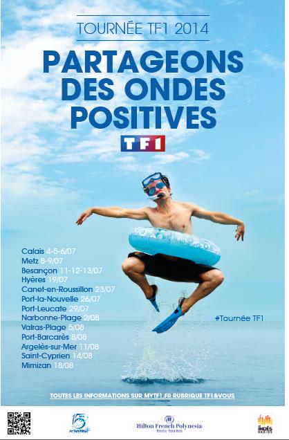 Dès ce vendredi : La tournée d'été 2014 de TF1, de Calais à Mimizan.