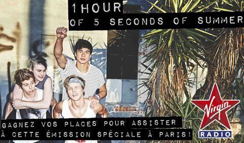 Virgin Radio : émission spéciale avec 5 Seconds of Summer.
