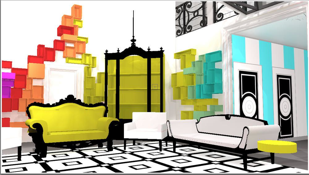 Secret story 8 : photos de la maison (plans 3D).