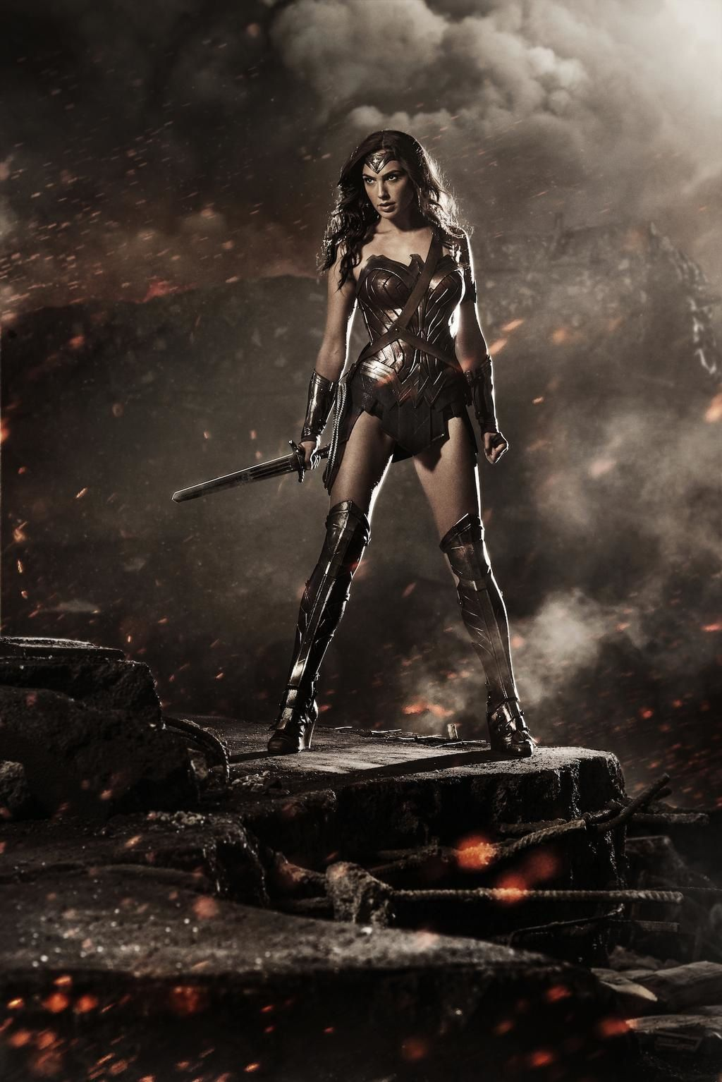 Batman v. Superman: Dawn of Justice, photo de Wonder Woman.