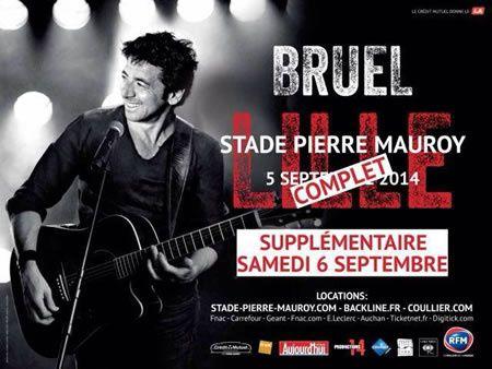 Concert de Bruel le 5 septembre sur TF1 (en direct de Lille).