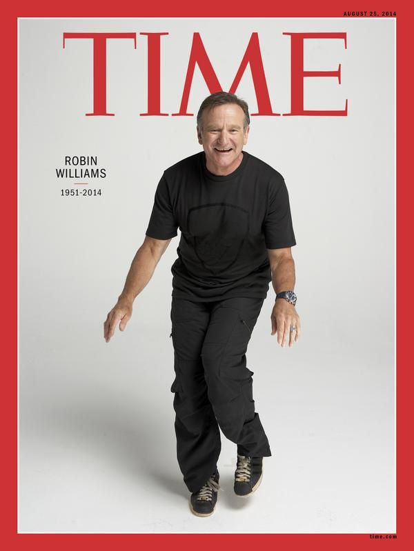 Hommage à Robin William : la Une de Time.