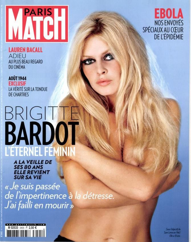 B.B. en Une de Paris Match.