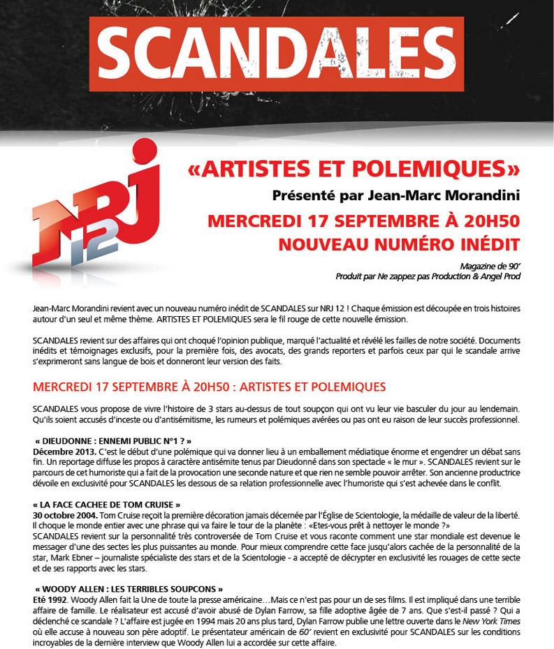 Scandales sur NRJ12 : un sujet sur Dieudonné le 17 septembre.