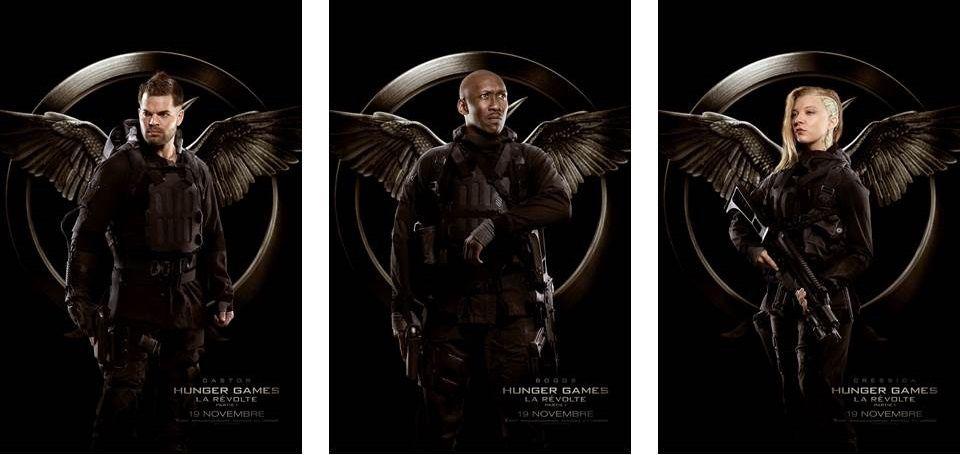 Hunger Games, la révolte (partie 1) :  posters des Rebelles du District 13.