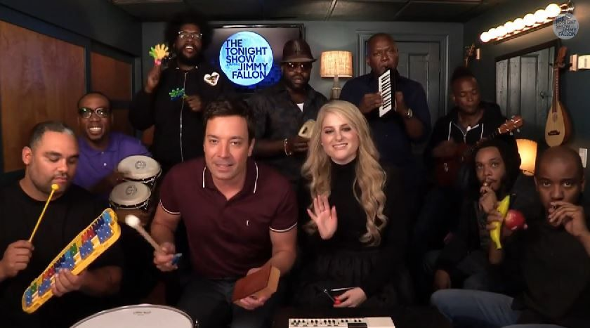 Vidéo : Jimmy Fallon &amp&#x3B; The Roots reprennent All about that bass.
