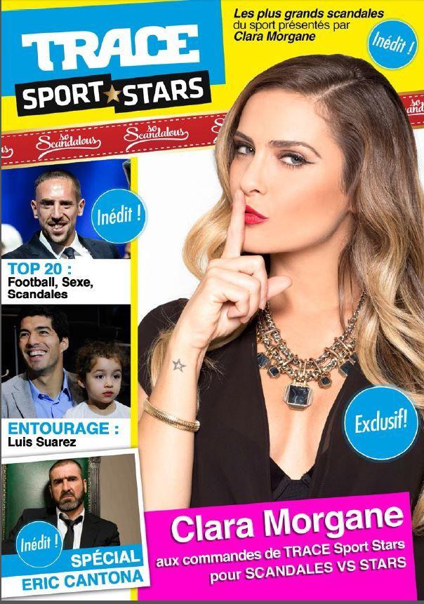 Clara Morgane présente le mois spécial Scandales sur Trace Sport Stars (vidéo).