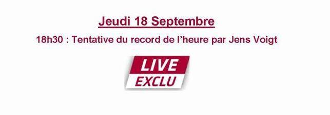 Cyclisme : tentative de record de l'heure devant les caméras d'Eurosport.