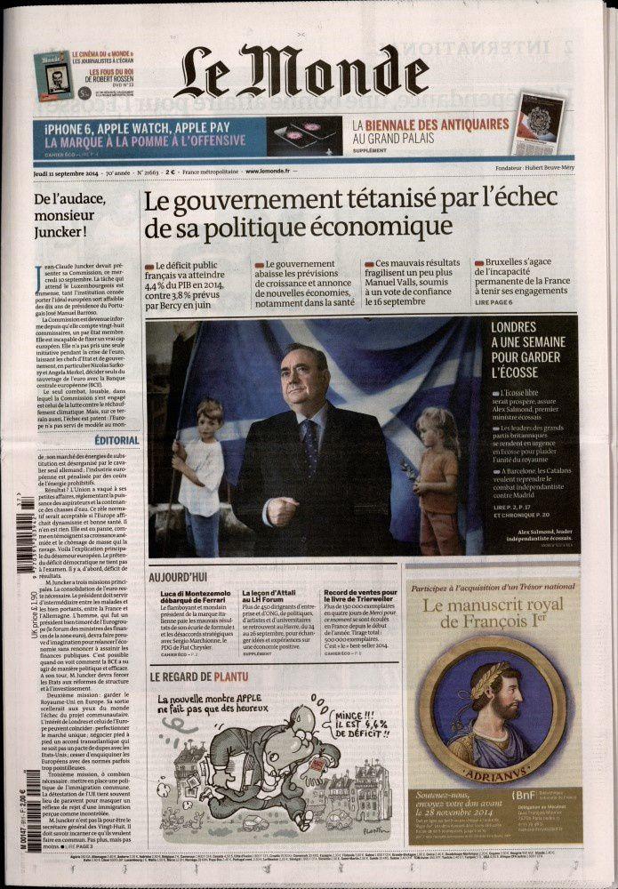 La Une de la presse quotidienne nationale ce jeudi (photos).