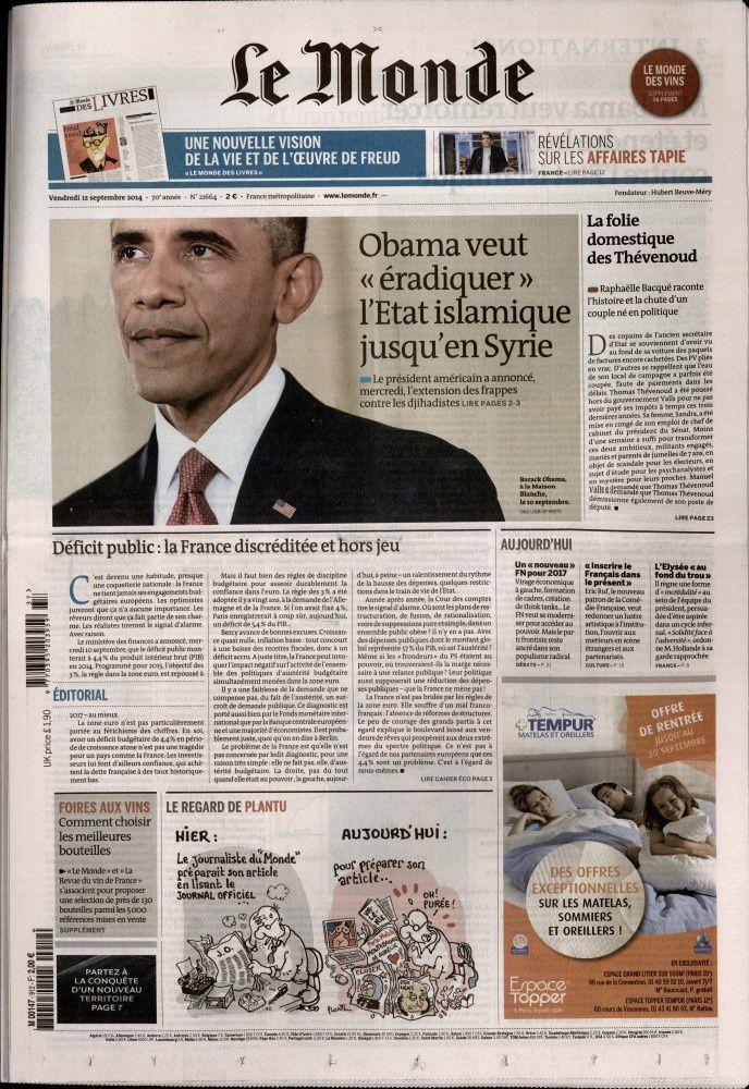 La Une de la presse quotidienne nationale ce vendredi (photos).