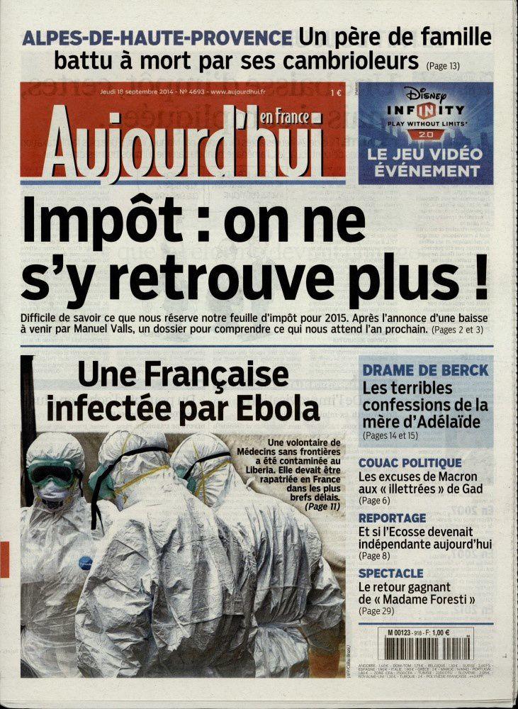 La Une de la presse quotidienne nationale ce jeudi 18 septembre.