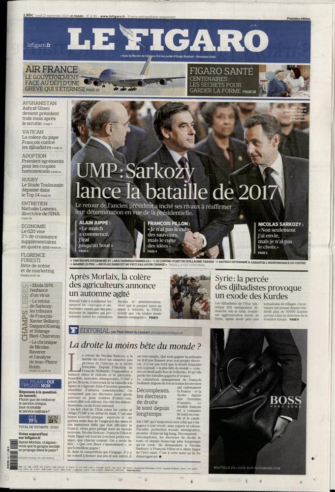 La Une de la presse quotidienne nationale ce lundi : Sarkozy, Sarkozy et Sarkozy.