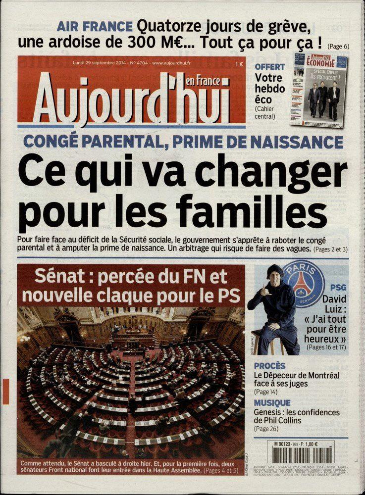 La Une de la presse quotidienne nationale ce 29 septembre.