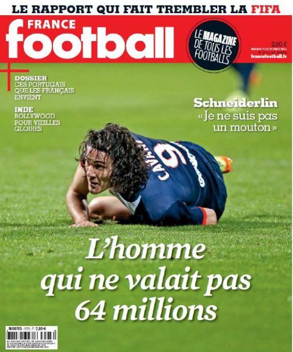L'homme qui ne valait pas 64 millions, en Une de France Football mardi.