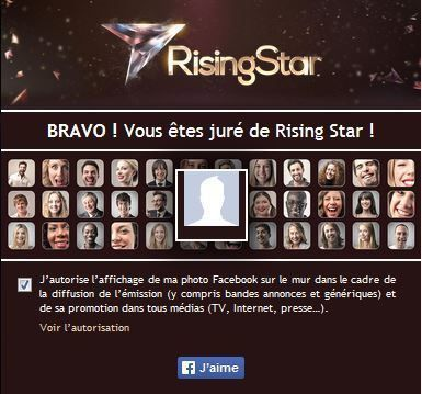 Rising Star, voici comment voter avec l'application 6 play.