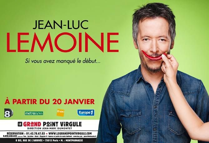 Jean-Luc Lemoine au Grand Point Virgule : l'affiche du spectacle.