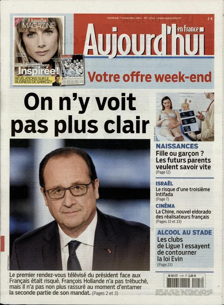 La Une des quotidiens nationaux ce vendredi 7 novembre.