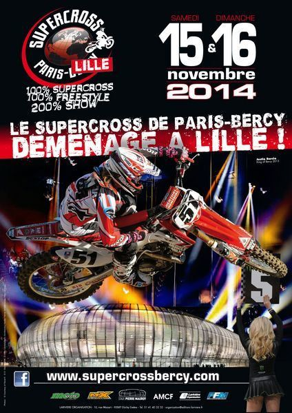 Le supercross au stade de Lille en direct ce week-end.