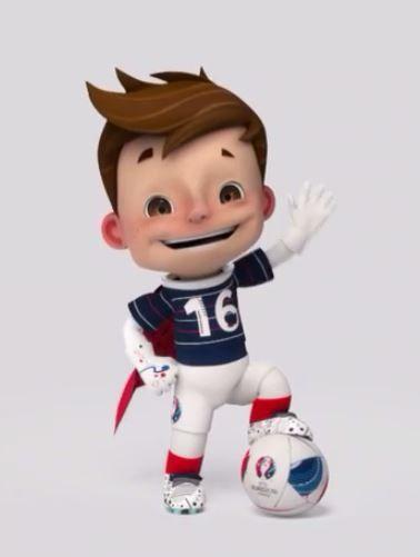 La mascotte de l'Euro 2016 de foot organisé en France sera nommée...Super Victor...