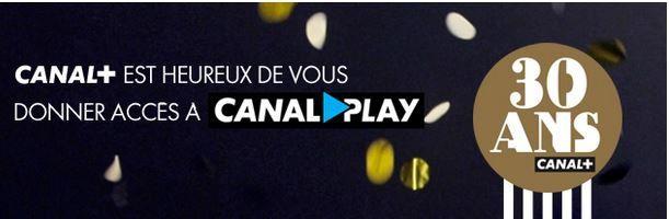 CanalPlay est offert à de nombreux foyers pendant trois mois.