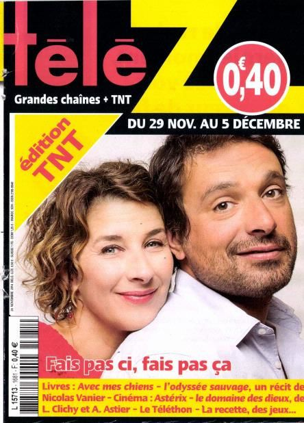 La Une des magazines TV parus ce lundi : Ingrid Chauvin à l'honneur.