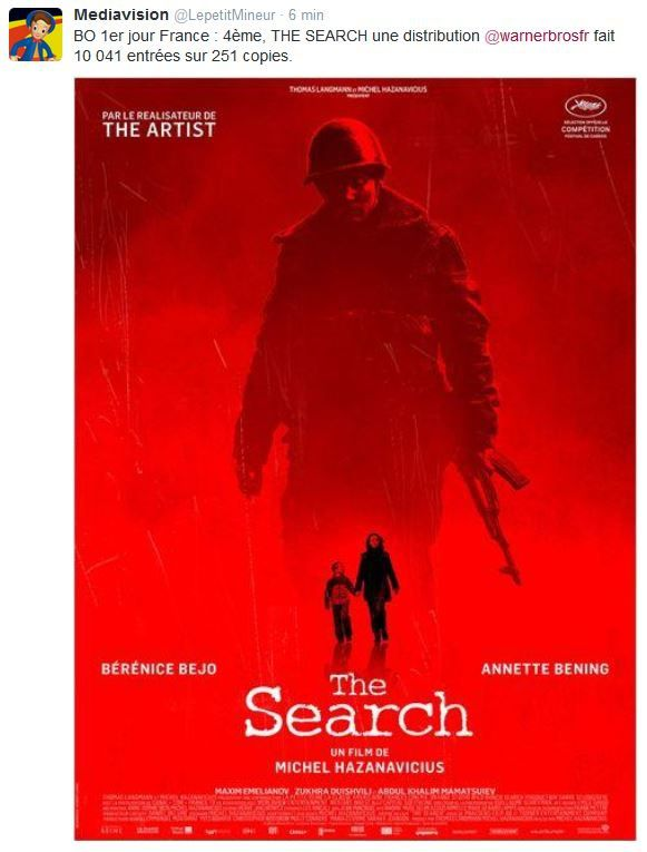 Très mauvais démarrage pour le film The Search, de Michel Hazanavicius.