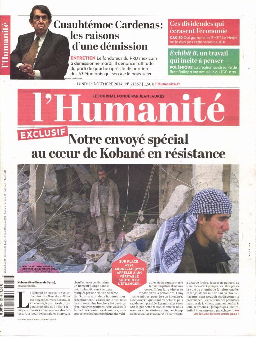 La Une de la presse quotidienne nationale ce lundi 1er décembre.