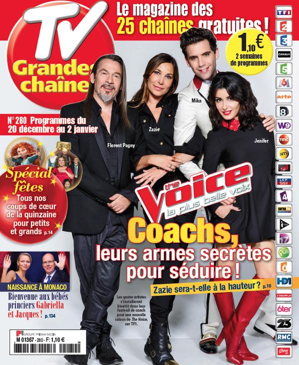 La Une des hebdomadaires TV ce lundi : The Voice, Marianne James, Elodie Frégé...