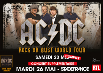 Second concert d'AC/DC au Stade de France : places en vente jusque 90 euros.