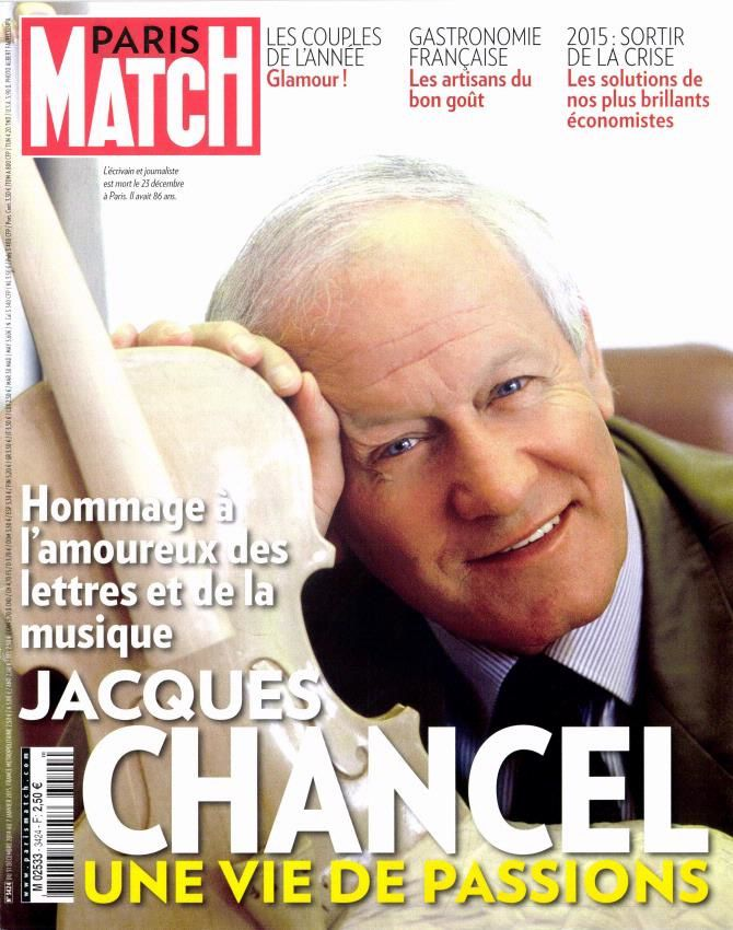 Paris Match consacre sa Une à Jacques Chancel.