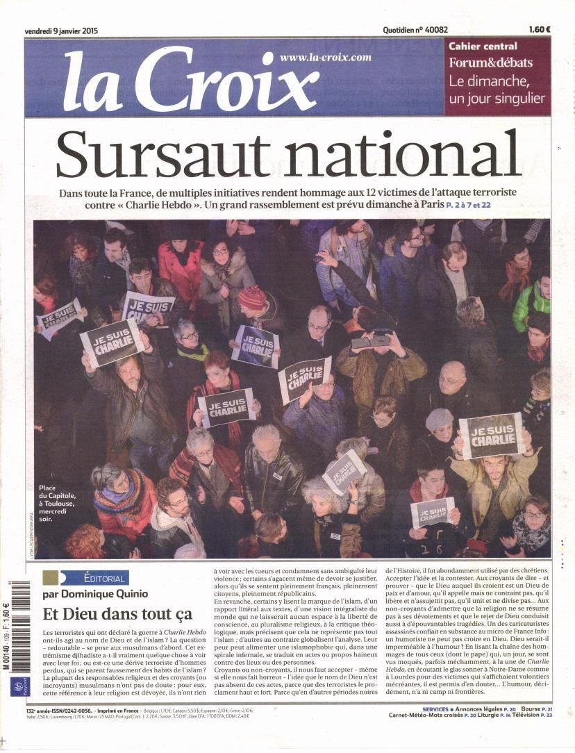 La Une de la presse quotidienne nationale ce vendredi 9 janvier.