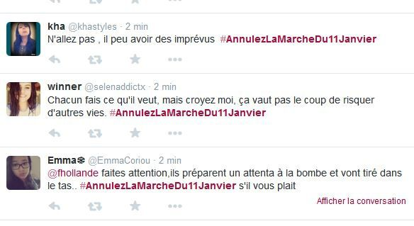 La montée en puissance de #AnnulezLaMarcheDu11Janvier !