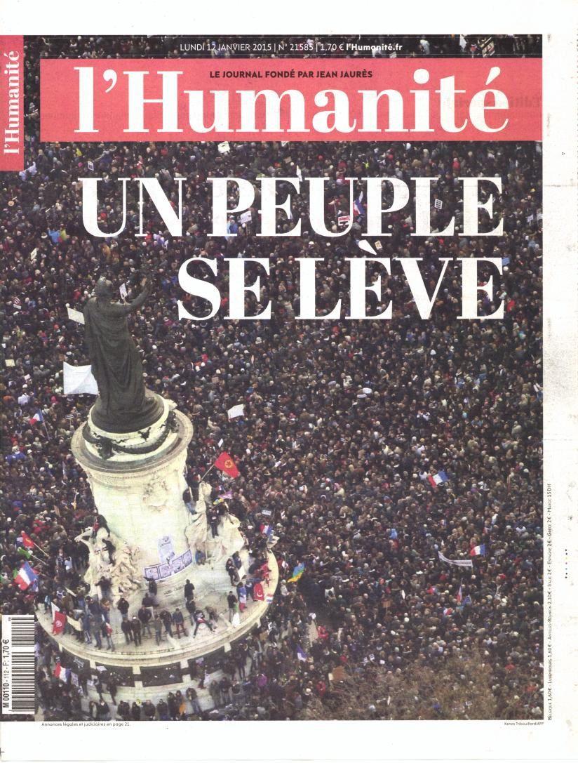 La marée humaine en Une de la presse quotidienne nationale.