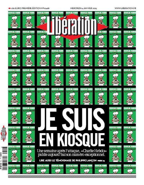 &quot&#x3B;Je suis en kiosque&quot&#x3B; : l'excellente Une de Libération mercredi.