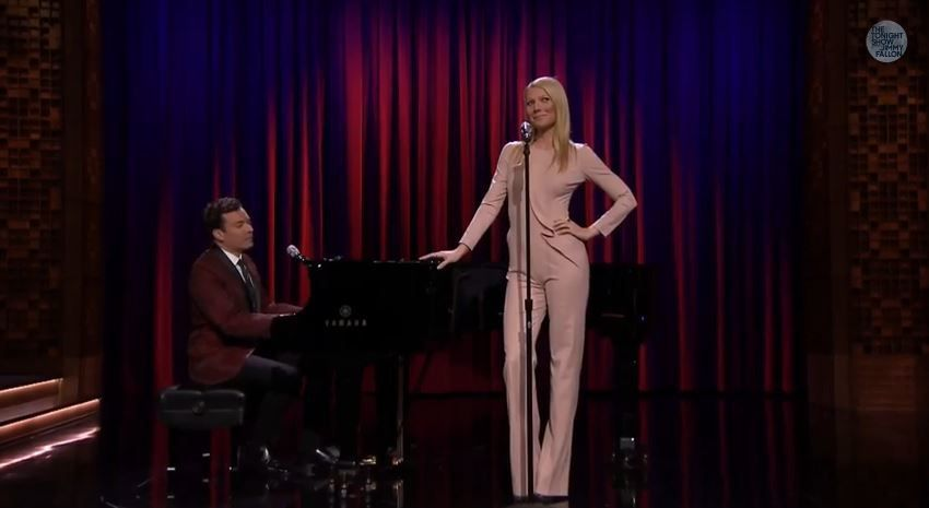 Jimmy Fallon et Gwyneth Paltrow : le rap version Broadway (Vidéo).