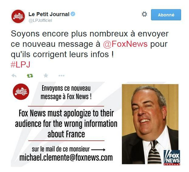 Un message à envoyer à Fox News ?