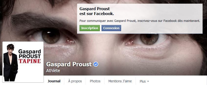 Mise au point de Gaspard Proust sur Facebook.