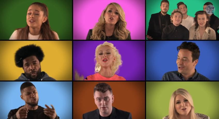 We are the champions a cappella par Jimmy Fallon, Sam Smith, One Direction...