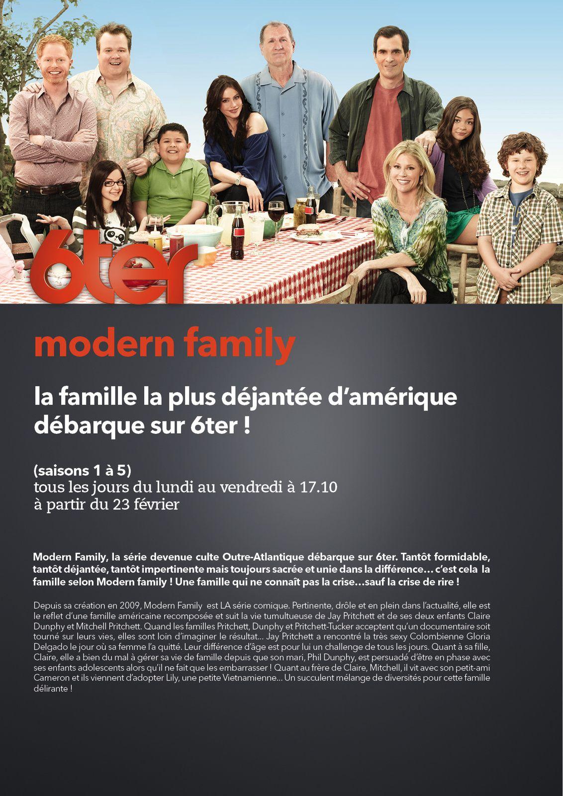 La série Modern Family a redécouvrir sur 6ter dès le 23 février.