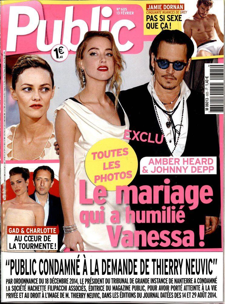 La Une de la presse people ce vendredi : Hanin, Depp, Paradis, Gayet...