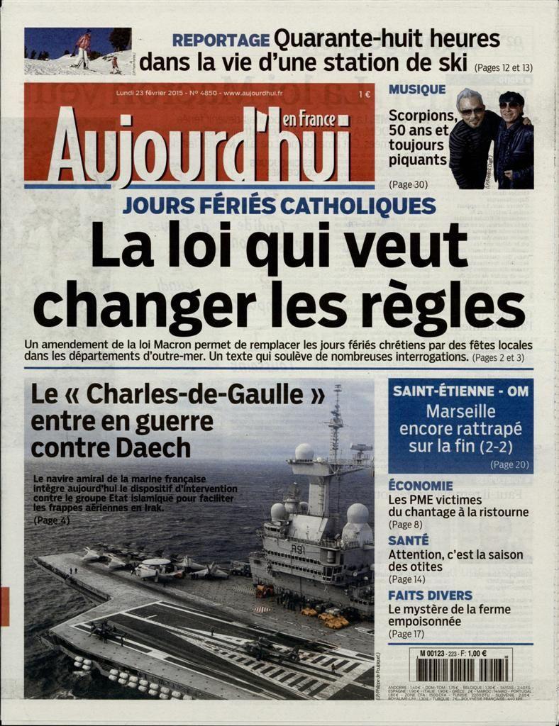 La Une de la presse quotidienne nationale ce lundi 23 février.