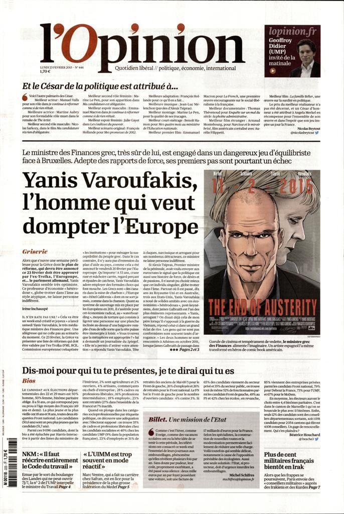 La Une de la presse quotidienne nationale ce mardi 24 février.