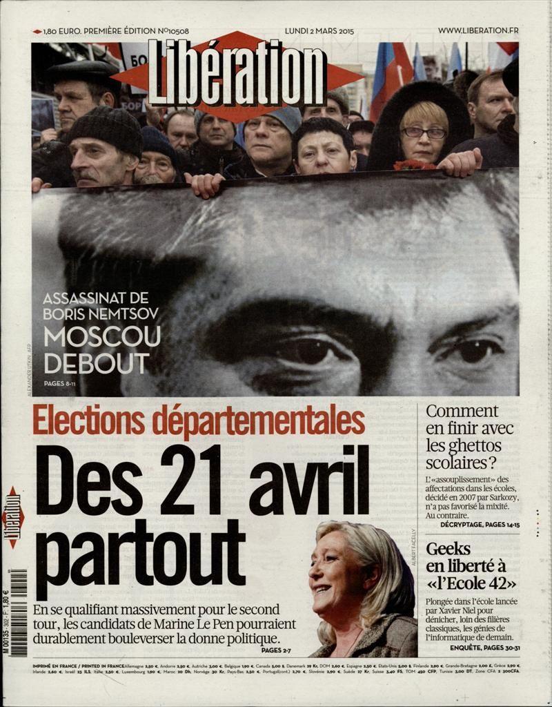 La Une de la presse quotidienne nationale ce lundi 2 mars.