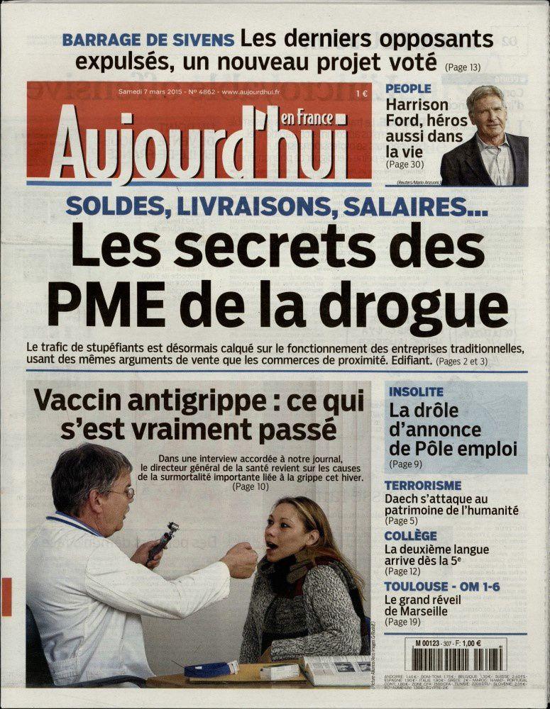 La Une des quotidiens nationaux ce samedi 7 mars.