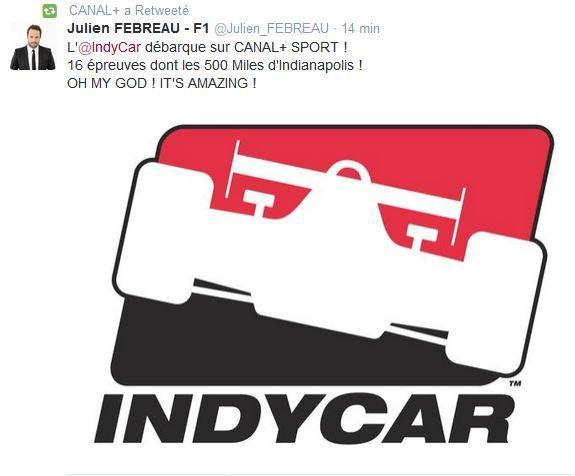 L'IndyCar débarque sur Canal+ Sport.