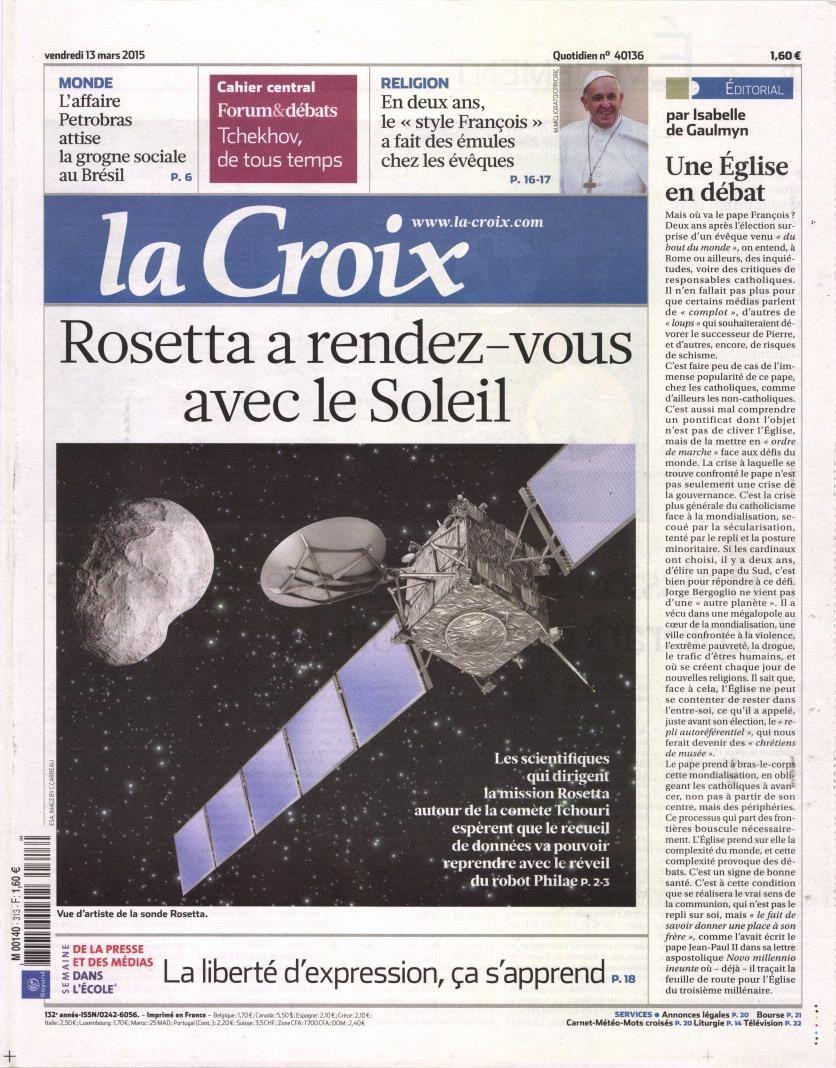 La Une de la presse quotidienne nationale ce vendredi 13 mars.
