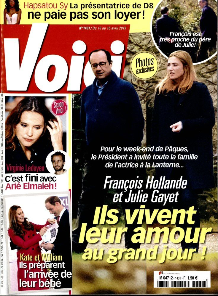 La Une de la presse people ce vendredi : Julie Gayet, Jenifer, France Gall.