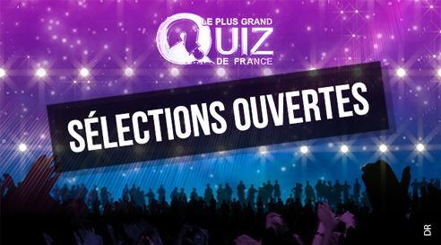 Inscriptions ouvertes pour participer au Plus grand quiz de France.