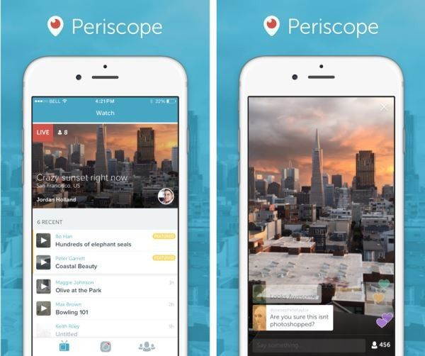 Finale de The Voice : WAT.TV se lance sur l'application Periscope.