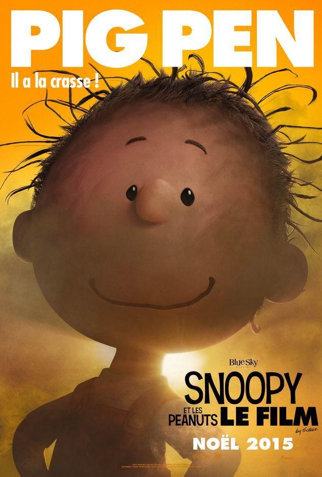 Les affiches personnages du film Snoopy.